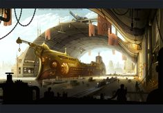 Steampunk is a sub-genre that's becoming more popular today in visual arts and other literature. Take a look at these steampunk ships with its unique artistic Steampunk Ship, Steampunk Movies, Steampunk Kunst, Steampunk Artwork, Steampunk Cosplay, Steampunk Fashion, Science Fiction, Art Nouveau, Steampunk Festival