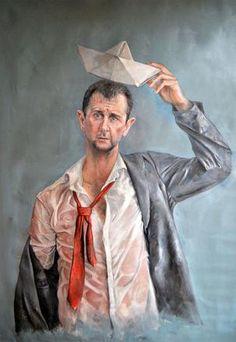 Suriyeli ressamın kaleminden; Dünya liderleri mülteci olsaydı...