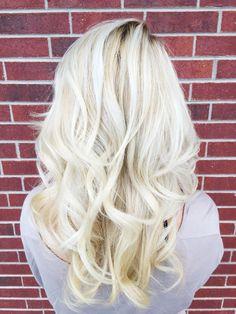 Cool bright blonde balayage