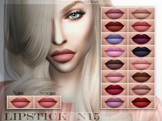 The Sims Resource: Lipstick N15 by Fashion Royalty Sims • Sims 4 Downloads