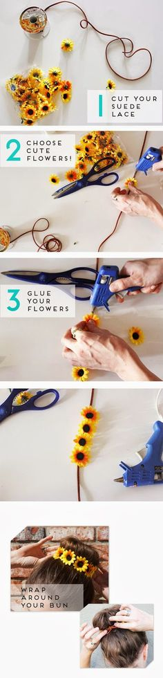How to Chic: DIY FLORAL BUN WRAP