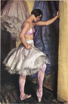 Ballet Girl, 1940s, by Dame Laura Knight (1877-1970):