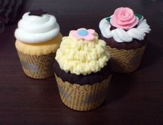 Felt Patterns Sweet Cupcakes Pretend Play Set by umecrafts, $4.00