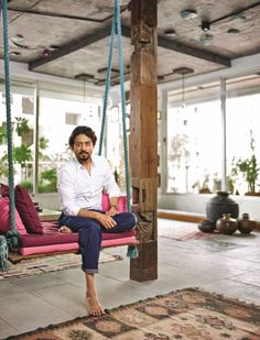 """From the stage to television to the silver screen, Irrfan Khan has established himself as an actor to be reckoned with. Arguably the finest actor in current Hindi cinema, Khan has moved from a home on Madh Island?a quick boat-ride away from the Mumbai mainland?to a high-rise in Oshiwara, an area close to Lokhandwala, the suburban neighbourhood that houses many of his film and television colleagues. It would find its own place."""" To read more, grab your copy of Architectural Digest India's…"""