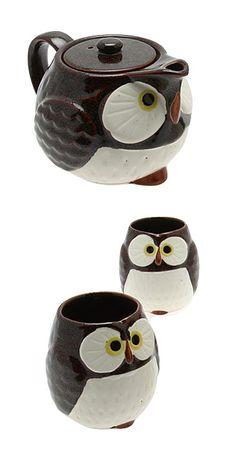 Owl tea set. Omg, I need this!!