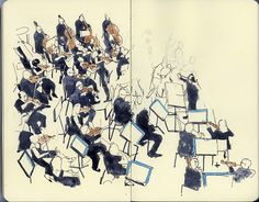 Overhead view of the string section | Flickr - Photo Sharing!