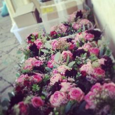 Flower arrangement before the event Bouquet arrivati in villa