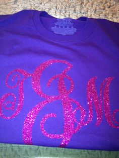 A personal favourite from my Etsy shop https://www.etsy.com/listing/176959714/sparkly-monogrammed-shirts-long-sleeve
