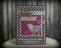 Stampin' Up! Best Birds stamp set and Birds & Blooms thinlits dies