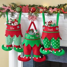 Santa won't have trouble finding these elf-tacular stockings to fill with treats and toys!