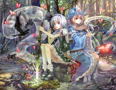 touhou wallpaper hd backgrounds images by Chisholm Murphy Anime Kunst, Anime Art, Sun Ken Rock, Anime Group, Desktop Pictures, Manga Girl, Anime Girls, Artist At Work, Anime Couples