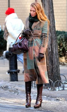 Blake Lively In Ralph Lauren As Serena Van Der Woodsen On The Gossip Girl Set, 2011