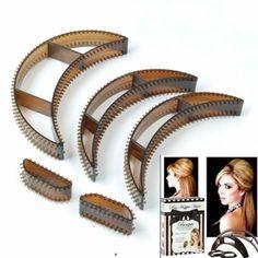 5PCS Bumpits Big Happie Hair Volumizing Inserts Hair Pump Beauty Set Tool 3 Size Free Shipping