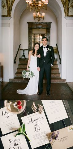 Minted Real Wedding - Traditional wedding details in a modern LA venue -repinned from Los Angeles County, CA wedding officiant https://OfficiantGuy.com