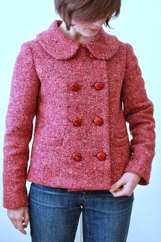 Anise Jacket in wool tweed Clothing Patterns, Sewing Patterns, Sewing Ideas, Sewing Projects, Colette Patterns, Casual Outfits, Fashion Outfits, Couture, Sewing For Beginners