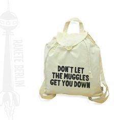 Rucksäcke - Jute-Rucksack 'The Muggles' - ein Designerstück von RaketeBerlin bei DaWanda