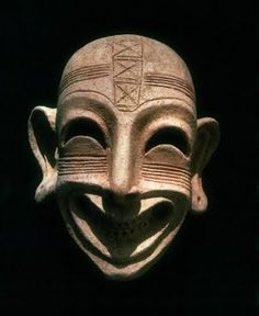 Phoenician mask, excavated at Carthage. 2nd century, BCE
