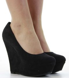 Ladies Wedge Heel Shoes Womens Chiffon Black Wedges | Shoes