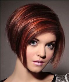 Rouge meche cuivree i like the colour i think it would be really nice on my long hair also - Carre plongeant roux ...