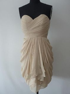 Sweetheart Chiffon Ruched Short Length Zipper Up A-line Bridesmaid Dresses 970101