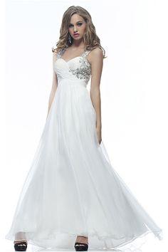 Chic Long Sleeveless Chiffon A-line Prom Dresses