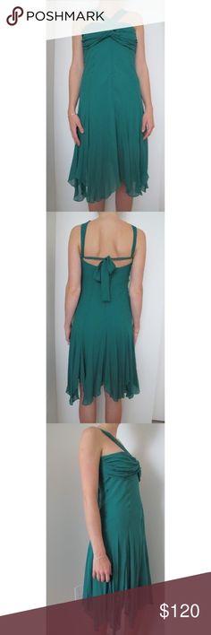 DASLU Private Label / Emerald Green Silk Dress 100% Silk DASLU Private Label Dresses