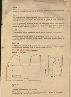Archivo de álbumes Album, Pattern Making, Sheet Music, Marti, How To Make, Sew, Molde, Journals, Libros