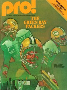 Green Bay Packers NFL Program art featuring 1980 Tri-Captains Gray 1e8071bea
