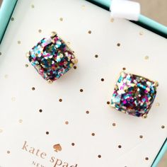 Kate Spade Glitter Studs are back in stock and on sale!
