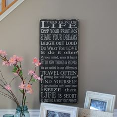 Family Rules This Is Your Life  Typography by barnowlprimitives, $95.00