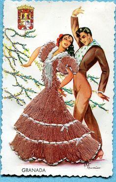 from Granada, vintage Spanish postcard | eBay @@@@¡¡¡¡¡.....http://www.pinterest.com/heatherdonaghy3/spanish-style/ €€€€€€€€€€€€€~~~~~~~~~~~~~~