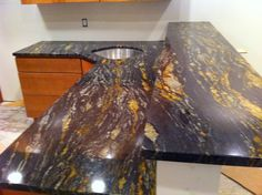 kitchen worktops, bathrooms,floors,sinks, window sills, thresholds. Being a porous material tends to absorb oily substances, that is why it is sometimes subjected to specific protective treatments.