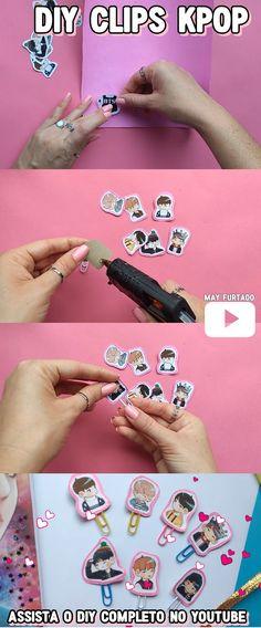 DIY clipes do grupo BTS | Material escolar KPOP