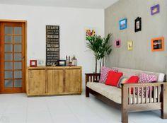 Sala com decoração simples ♥