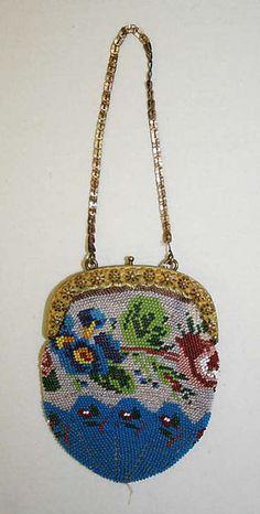 Bag Date: 19th century Culture: French Medium: glass, metal, silk