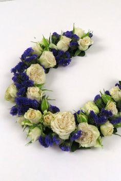 Blumengirlande kleben nach meiner Floristik Anleitung.