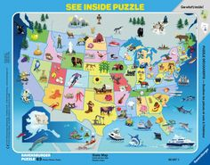 Preschoolers love puzzles!  63pc See-Inside Frame Puzzle.  We?ve got the perfect picks for your pint-sized puzzlers! Our preschool puzzles are designed specifically for little ones, featuring engaging