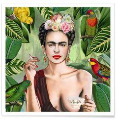 Frida Con Amigos en Affiche premium par Nettsch | JUNIQE