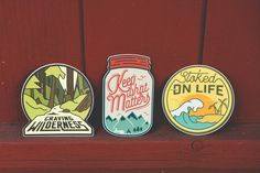 What do we live for if not adventure? We're the generation of experience seekers who appreciate the wild nature, remote destinations, and untouched places. This sticker set will accompany you on adven stickers de astrologia Stickers Cool, Bumper Stickers, Cute Car Accessories, Badge Design, Wild Nature, Cute Cars, Pin And Patches, Messages, Apps