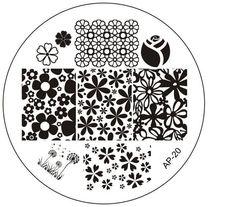 AP-20 Fashion DIY Polish Beauty Nail Art Image Stamp Stamping Plates 3D Nail Art Templates Stencils Manicure Tools