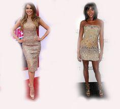 golden dress, Sofia Vergara VS Naomi Campbell fashion diva who-wore-it-better celeb celebrity