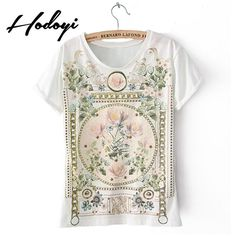 Plus Size Women Clothes Ropa Mujer Vintage Floral Printed T-Shirts Blusas Feminina Body Tops Tee T Shirt American Apparel