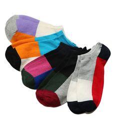 c12134702a7d 5Pairs Cotton Blend Men Ankle Socks Low Cut Striped Socks Short Meias  Homens Colorful Invisible Socks