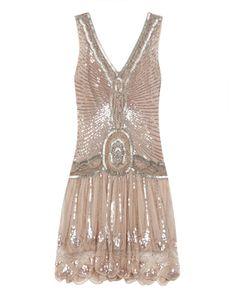 Embellished pink flapper dress £325.00