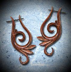 Zena Curls - Brown Sono Wood Post Earrings