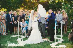 Backyard Wedding in Los Gatos, California - Thai Lantern Lighting - Sarah Maren Photography