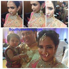 Lakshmi Manchu in Stunning Jewellery at Manoj's Wedding
