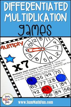 Find fun and engaging math games, math activities, and problem solving for your kindergarten, first grade, and grade students. Multiplication Games, Math Games, Math Activities, 2nd Grade Teacher, Fun Math, Maths, Math Workshop, Elementary Math, Math Classroom