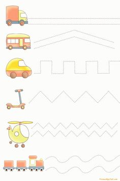 Draw a line / tasks for children / fine motor development …- a li … - Preschool-Kindergarten Preschool Learning Activities, Preschool Printables, Toddler Preschool, Preschool Activities, Kids Learning, Free Kindergarten Worksheets, Worksheets For Kids, Shapes Worksheets, Preschool Writing