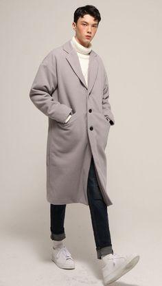 MOST BELLO OVERSIZED SINGLE COAT (GRAY) 벨로우 오버사이즈드 싱글 코트 그레이